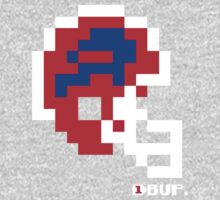 Tecmo Bowl - Buffalo - 8-bit - Mini Helmet shirt (White Helmet also available) One Piece - Short Sleeve