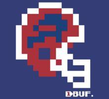 Tecmo Bowl - Buffalo Bills - 8-bit - Mini Helmet shirt (see Artist's notes!) by QB Bills