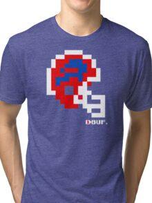 Tecmo Bowl - Buffalo Bills - 8-bit - Mini Helmet shirt (see Artist's notes!) Tri-blend T-Shirt