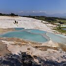 Pamukkale Travertine Terraces by Peter Hammer