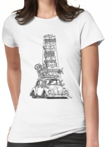 Stack Yo Rack Womens Fitted T-Shirt