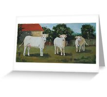 Les Vaches Greeting Card