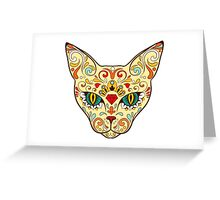 Cat Sugar Skull Day Of The Dead design Greeting Card