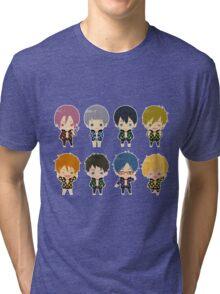 Free! Polkadot Group Chibi Tri-blend T-Shirt