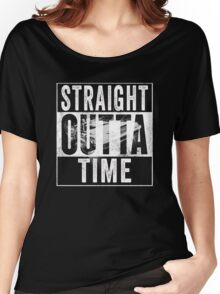 Straight Outta Time Back to the Future  Women's Relaxed Fit T-Shirt