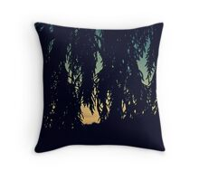 Trees at Sunset on the Farm Throw Pillow