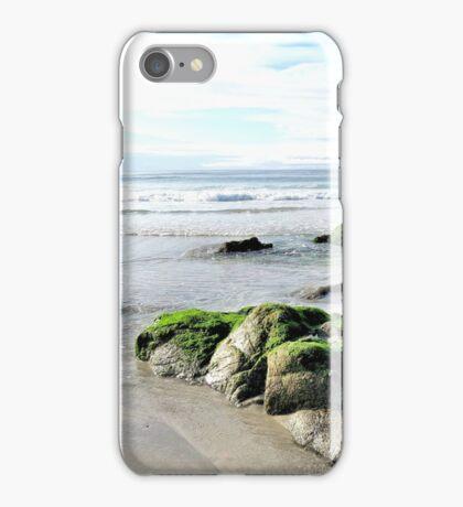 Moss on Beach Rocks iPhone Case/Skin