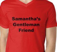 ISIHAC Samantha's Gentleman Friend - Dark Text Mens V-Neck T-Shirt