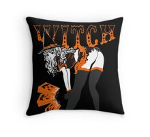 HALLOWEEN WITCH COSPLAY PINUP Throw Pillow
