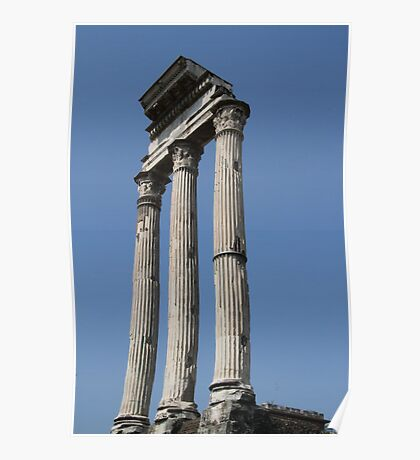Pillars In The Forum Poster