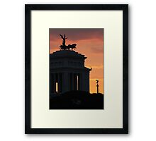 Sunset at Monumento Nazionale a Vittorio Emanuele II  Framed Print