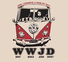 What Would Jesus Drive ? humble, economical & room for 12 T-Shirt