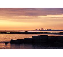 Dawn, late June, Lake Erie, West of Cleveland Photographic Print