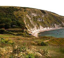 Panorama of Lulworth Cove by Rob Hawkins