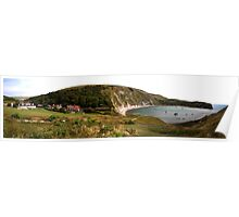 Panorama of Lulworth Cove Poster