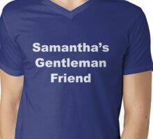ISIHAC Samantha's Gentleman Friend - Light Text Mens V-Neck T-Shirt