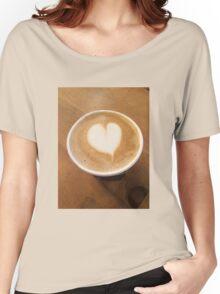 Pumpkin Spice Latte Coffee Art Women's Relaxed Fit T-Shirt