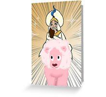 Steven Universe Aladdin Crossover Greeting Card