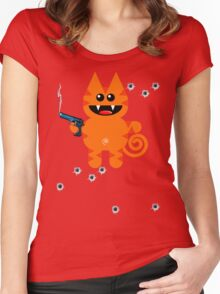 KAT 5 (Armed and highly dangerous!) Women's Fitted Scoop T-Shirt