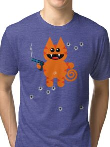 KAT 5 (Armed and highly dangerous!) Tri-blend T-Shirt