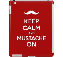 Keep Calm and Mustache On iPad Case/Skin