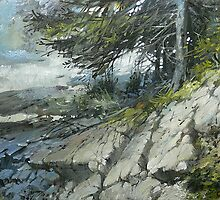 Rocky Shore. by Guennadi Kalinine
