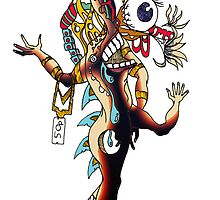 Distorted Creature Cartoon by Grant Wilson