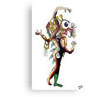 Distorted Creature Cartoon Canvas Print