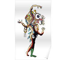 Distorted Creature Cartoon Poster