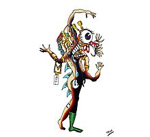 Distorted Creature Cartoon Photographic Print