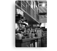 Black & White Cafe Canvas Print