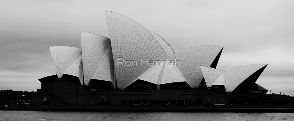 Opera House in B&W by Ron Hannah