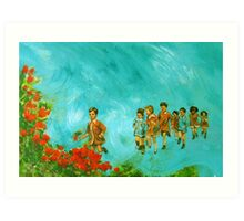 Childhood series - children play - In the kindergarten  Art Print