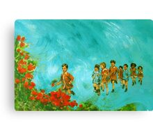 Childhood series - children play - In the kindergarten  Canvas Print