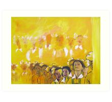 Childhood series - children singing - Kid's choir Art Print