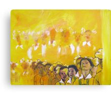 Childhood series - children singing - Kid's choir Canvas Print