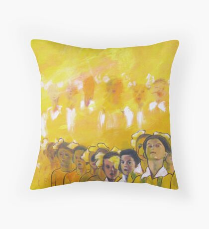 Childhood series - children singing - Kid's choir Throw Pillow