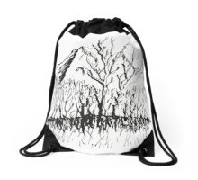 Mountain Trees of the Vale Drawstring Bag