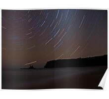Star Trails Eagles Nest Poster