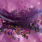 Purple Fairy Feather by Pixie Copley LRPS