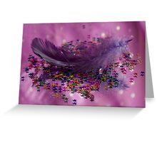 Purple Fairy Feather Greeting Card