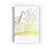 Mystical Glow on Mountain Valley Trees Spiral Notebook