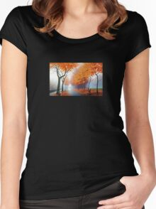 Landscape Photo Women's Fitted Scoop T-Shirt