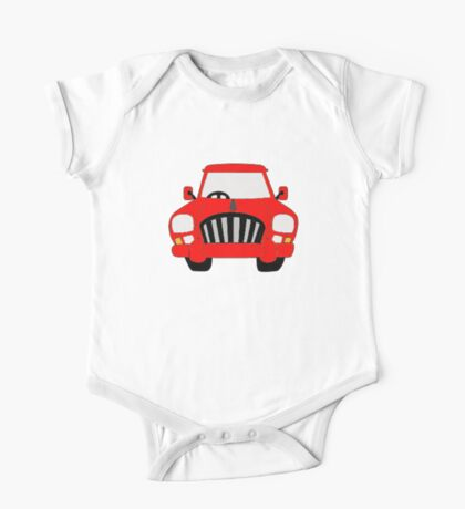 Red Car One Piece - Short Sleeve