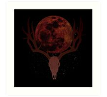 The Elder Scrolls - Hircine Blood Moon Art Print