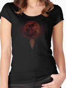The Elder Scrolls - Hircine Blood Moon Women's Fitted Scoop T-Shirt