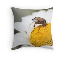 """I Really Get Into My Work"" Throw Pillow"