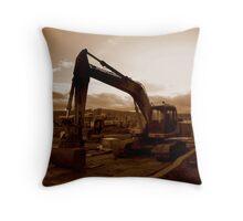 Titanic Quarter digger, Belfast Throw Pillow