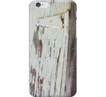 Rustic Wood Barn Door Hinge iPhone Case/Skin