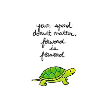 Forward is Forward Turtle Photographic Print